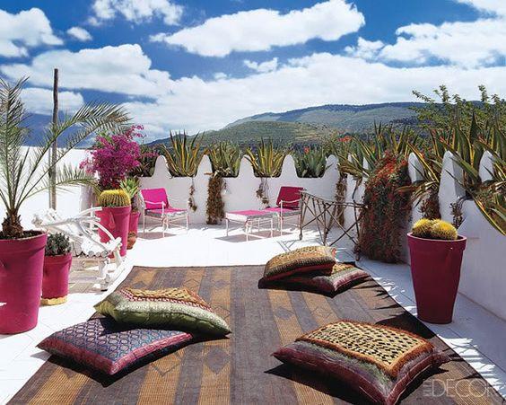 terraza eclectica