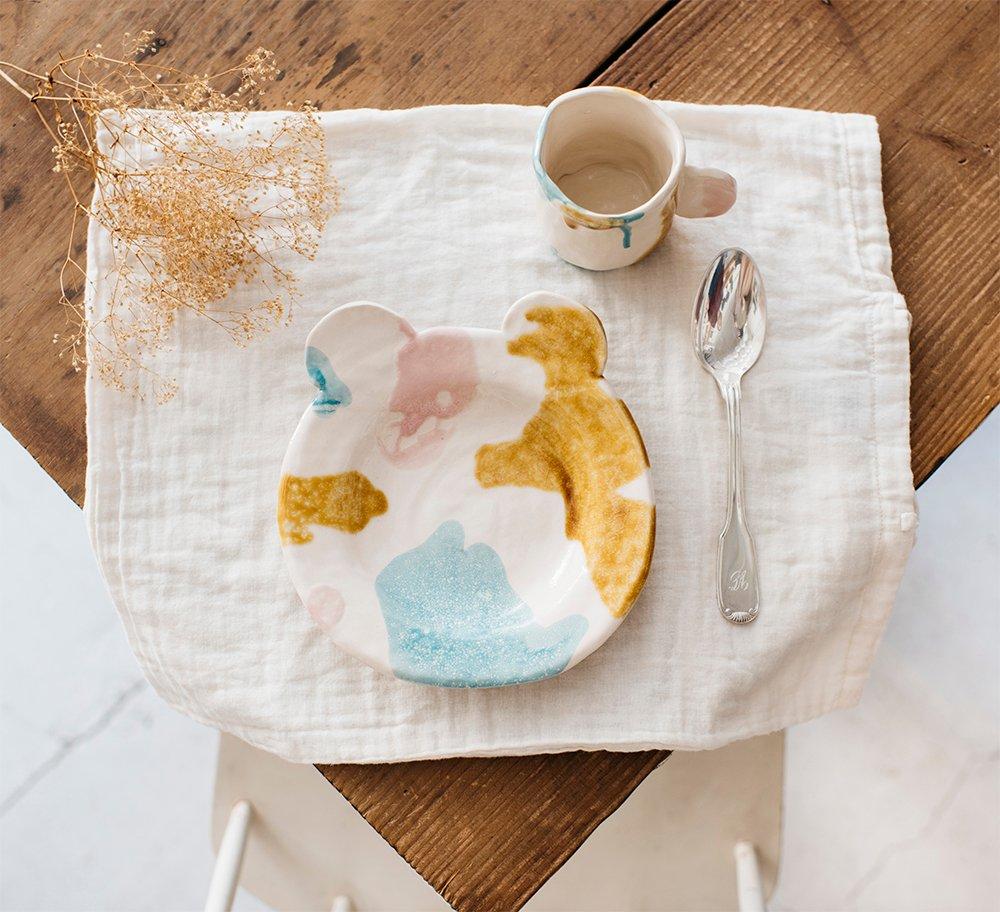 VAJILLA plato+oso+colores